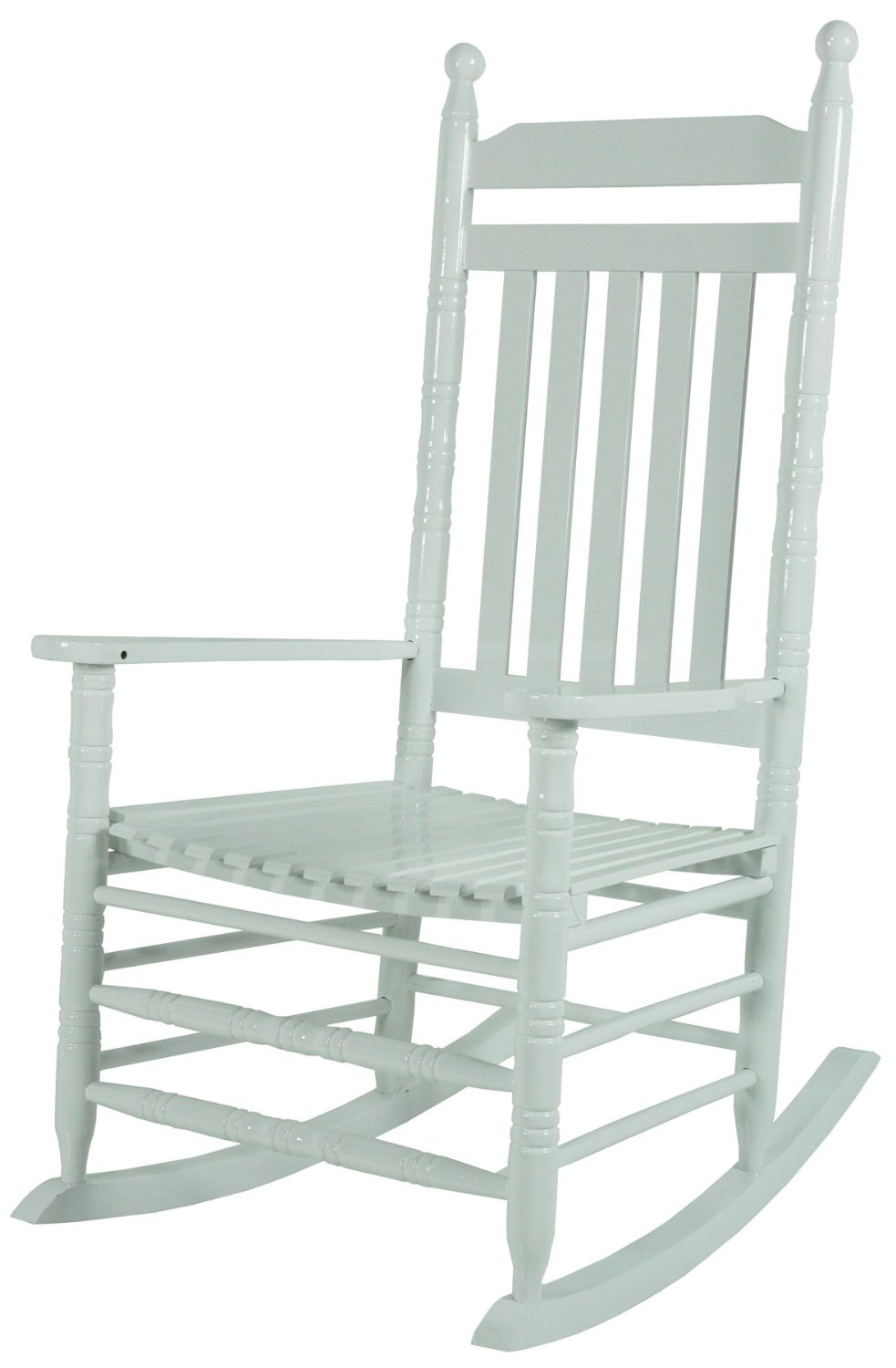 jack post knollwood kn22 w classic white wood front porch rocker rocking chair ebay. Black Bedroom Furniture Sets. Home Design Ideas