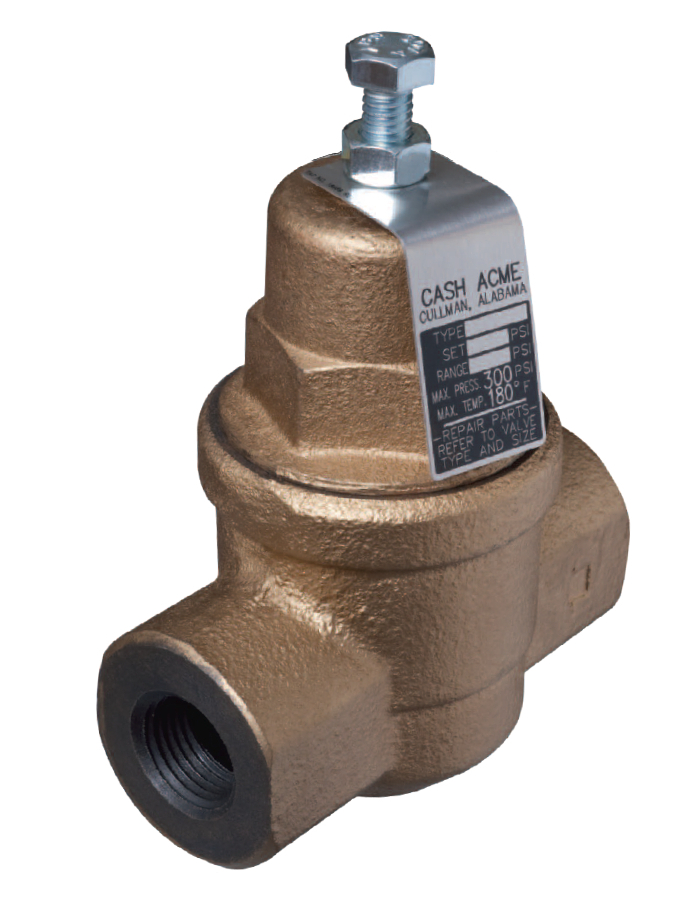 cash acme 23000 0045 eb75 3 4 water pressure reducing regulator valve. Black Bedroom Furniture Sets. Home Design Ideas
