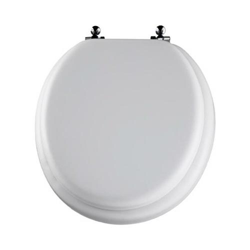 Bemis Mayfair 13CP 000 Round White Molded Wood Soft Toilet Seat EBay