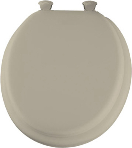 Round Bone Soft Padded Toilet Seat Features Plastic Easy Clean And Change Hi