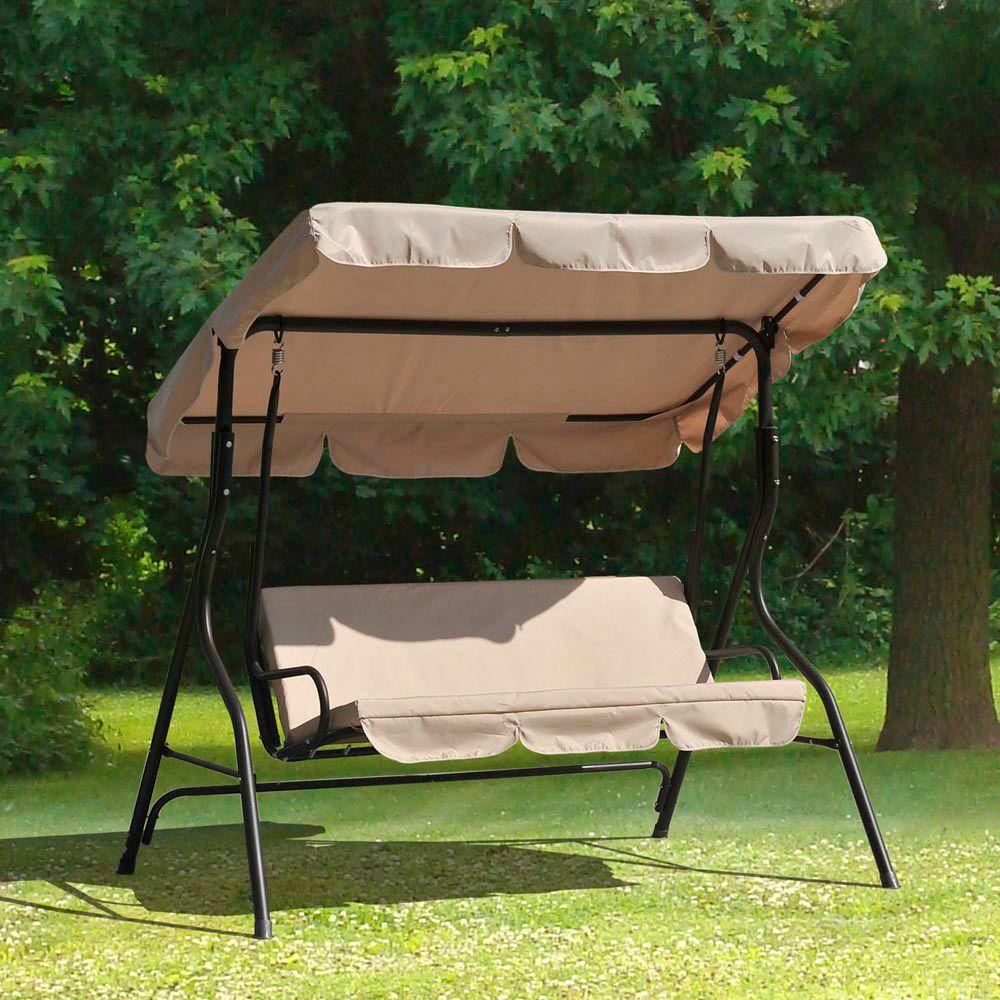 Sunjoy L Dnc373pst 3 Person Duet Steel Polyester Patio