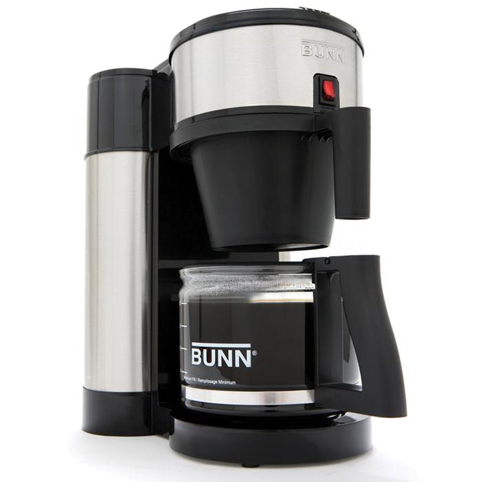 Bunn NHS 10 Cup Velocity Brew Coffee Maker Black and Stainless Brewer ...