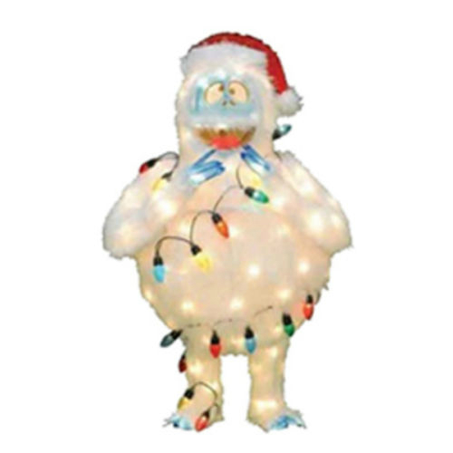 36 3 d rudolph 39 s bumble yard art light strand around for Abominable snowman holiday decoration
