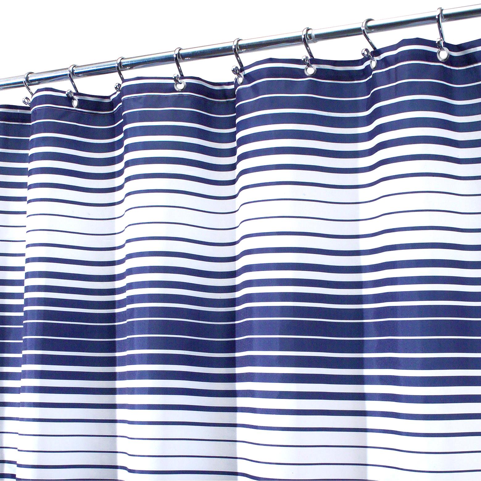interdesign enzo navy white enzo fabric shower curtain