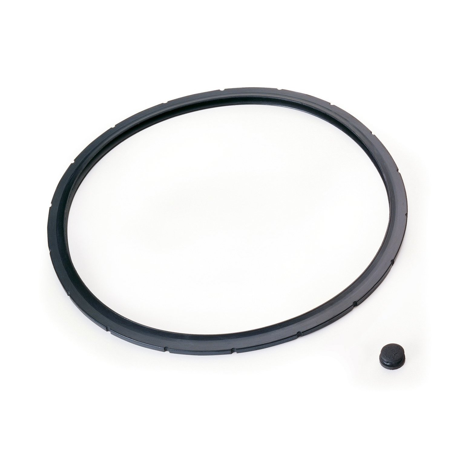 The sealing ring fits around inside rim of cover