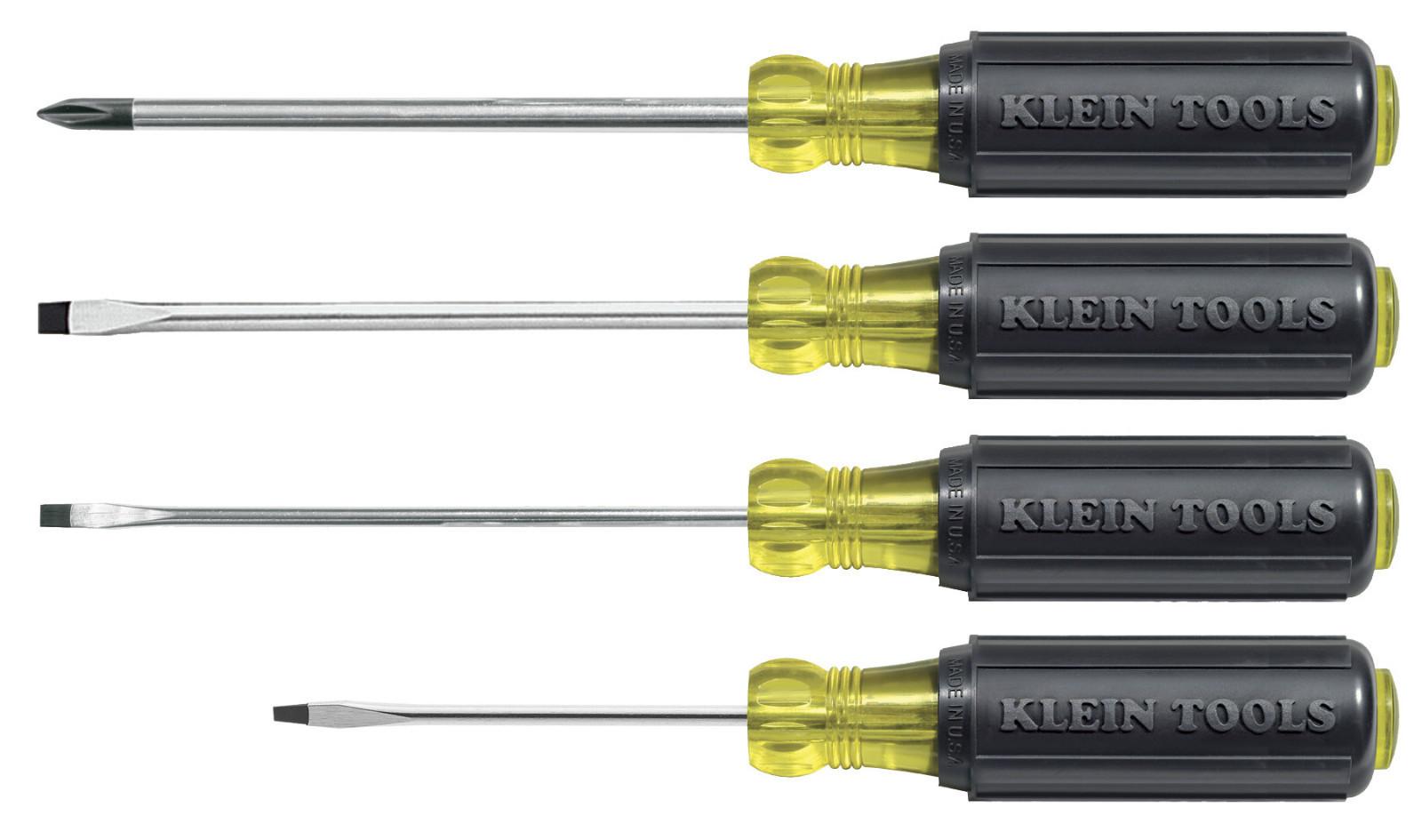klein tools 85484 four 4 piece mini cushion grip screwdriver set ebay. Black Bedroom Furniture Sets. Home Design Ideas