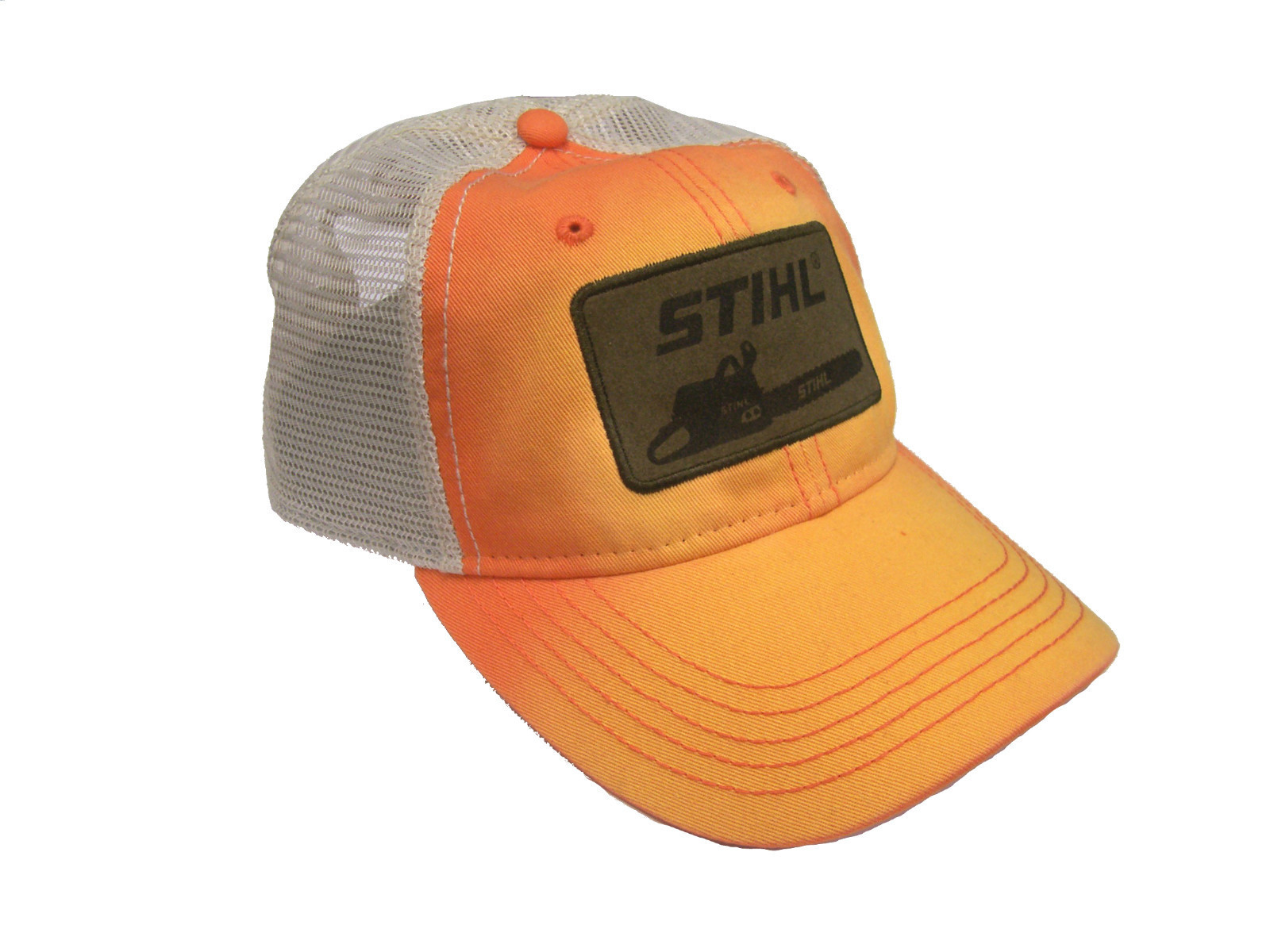 stihl 840902 washed faded orange twill white mesh ball cap ebay. Black Bedroom Furniture Sets. Home Design Ideas