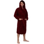 Men's Terry Cotton Hooded Bathrobe