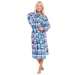 Women's Striped Fleece Bathrobe
