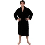 Men's Fleece Robe, Shawl Collar Bathrobe