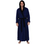 Men's Turkish Terry Cloth Robe, Long Cotton Hooded Bathrobe