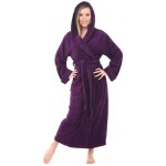 Women's Turkish Terry Cloth Robe, Long Cotton Hooded Bathrobe