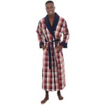 Woven with Terry Cotton Lining Full Length Bathrobe Robe