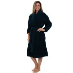 Women's Fleece Robe, Plush Microfiber Bathrobe
