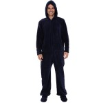 Men's Hooded Footed Fleece Pajamas with Zip-off Feet