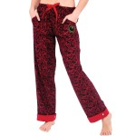 Women's Flannel Pajama Pants, Flip Cuff Cotton Pj Bottoms