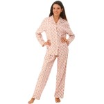 Women's Flannel Pajamas, Long Cotton Pj Set