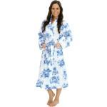 Women's Cotton Robe, Lightweight Printed Woven Bathrobe