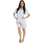 Women's Cotton Pajamas, Short Button Down Woven Pj Set