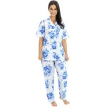 Women's Cotton Pajama Set, Woven Pjs with Pants