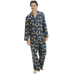 Men's Flannel Pajama Set, Long Cotton Pjs