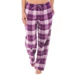 Women's Flannel Pajama Pants, Long Cotton Pj Bottoms
