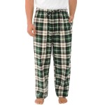 Men's Flannel Lounge Pants, Long Cotton Pajama Bottoms