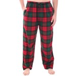 Men's Flannel Pajama Pants, Long Cotton Pj Bottoms