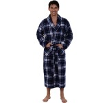 Men's Flannel Robe, Soft Cotton Bathrobe