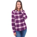 Women's Flannel Shirt, Button-Down Cotton Boyfriend Top