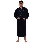 Men's Cotton Robe, Lightweight Woven Bathrobe