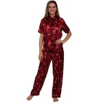 Women's Satin Pajamas, Chinese Inspired Pj Set