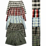 Men's Satin Boxer Shorts, Plaid Individual or Packs