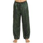 Men's Satin Pajama Pants, Long Pj Bottoms