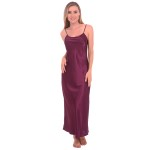 Women's Satin Nightgown, Full Length Camisole Chemise