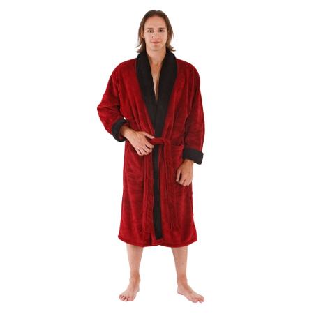 Men's Water Absorbent 15 oz Fleece Bathrobe