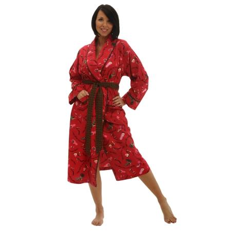 Women's Classic Cotton Flannel Bathrobe