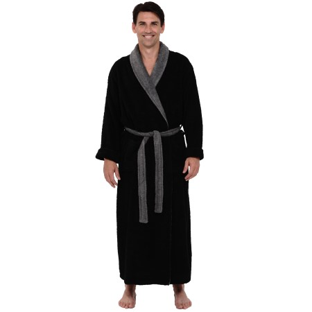 men's turkish terry cloth robe | long cotton bathrobe | del rossa
