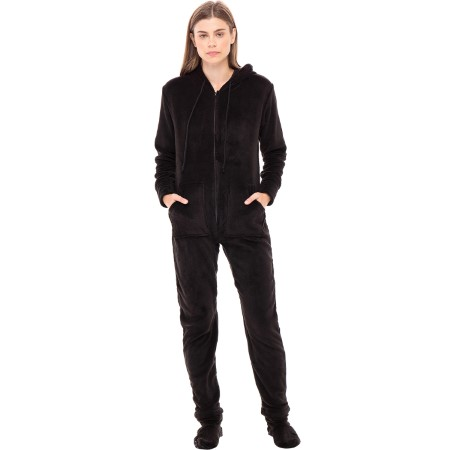 Fleece One Piece Footed Pajamas | Women's Onesie | Del Rossa