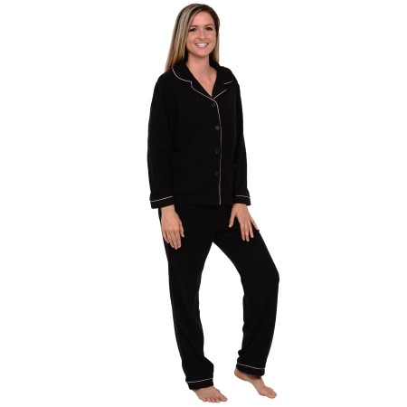Women's Pajama Set   Polar Fleece Two Piece Pajamas   Del Rossa