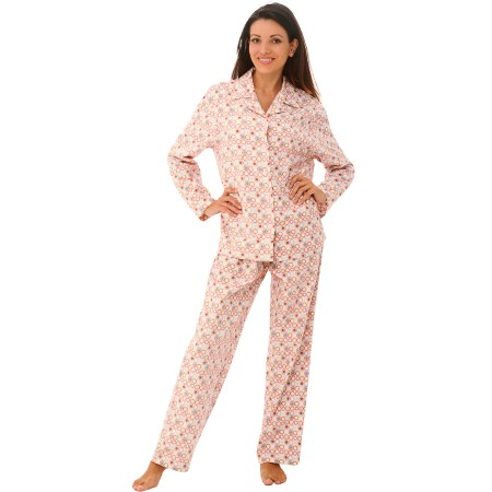 Women's Flannel Pajamas | Long Cotton Pj Set | Del Rossa
