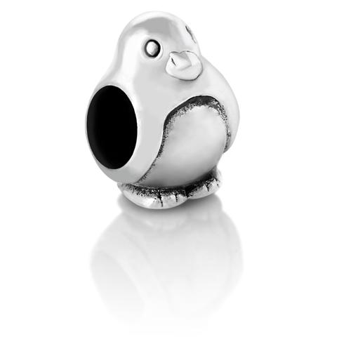 925 Sterling Silver Penguin Bead Charm Fits Pandora Bracelet