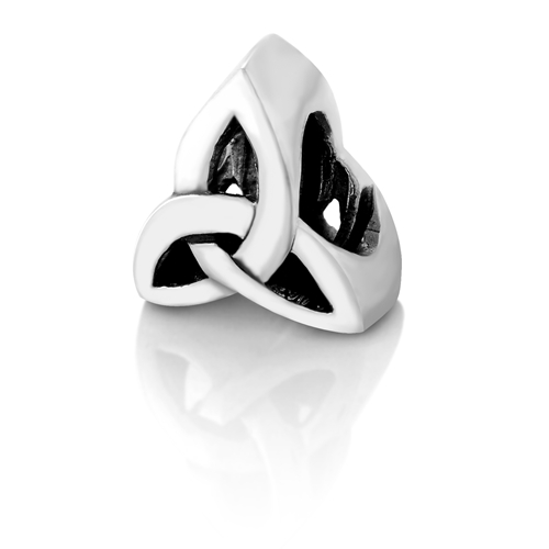 925 Sterling Silver Celtic Trinity Knot Triquetra Bead Charm Fits Pandora Bracelet