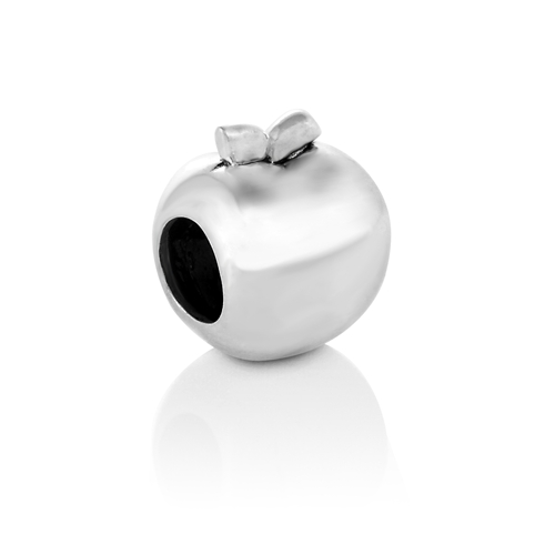 925 Sterling Silver Apple Teacher Bead Charm Fits Pandora Bracelet