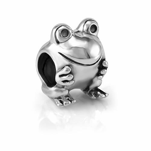 925 Sterling Silver Smile Frog Bead Charm Fits Pandora Bracelet