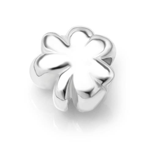 925 Sterling Silver Three Leaf Clover Shamrock Bead Charm Fits Pandora Bracelet