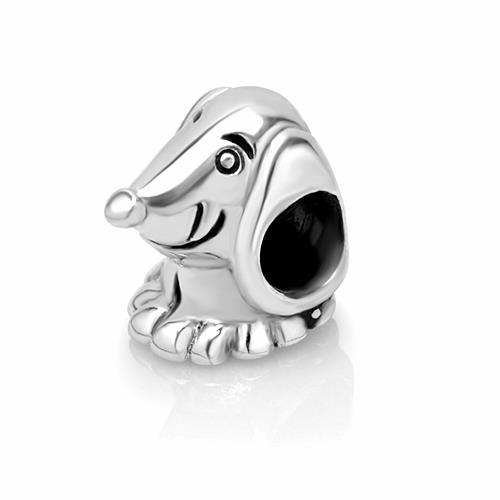925 Sterling Silver Dachshund Dog Puppy Bead Charm Fits Pandora Bracelet