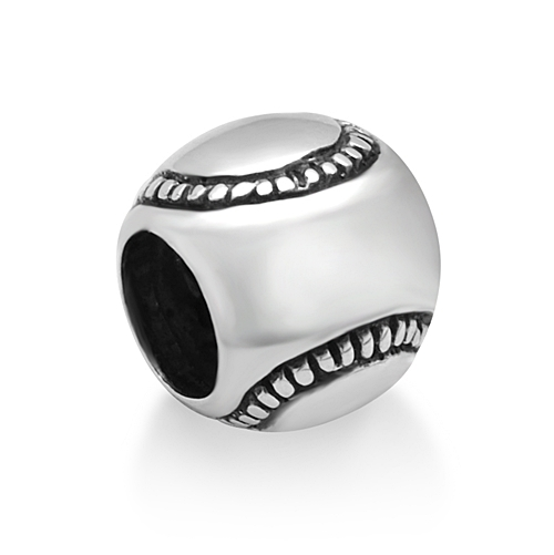 925 Sterling Silver Baseball Softball Bead Charm Fits Pandora Bracelet