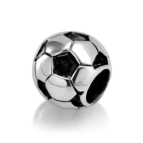 925 Sterling Silver Soccer Fubtol Bead Charm Fits Pandora Bracelet
