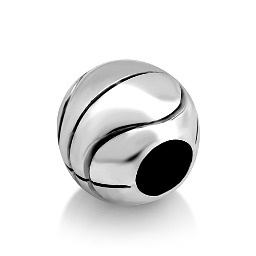 925 Sterling Silver Basketball Bead Charm Fits Pandora Bracelet